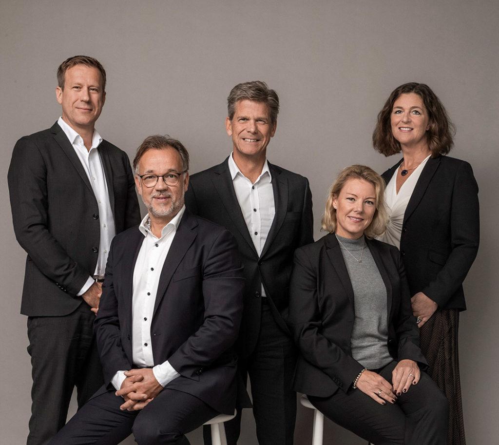 Nollvision cancers stiftande partners Ola Ejlertsson, Hans Hägglund, Ebba Hult, Per Nylund, Suzanne Håkansson
